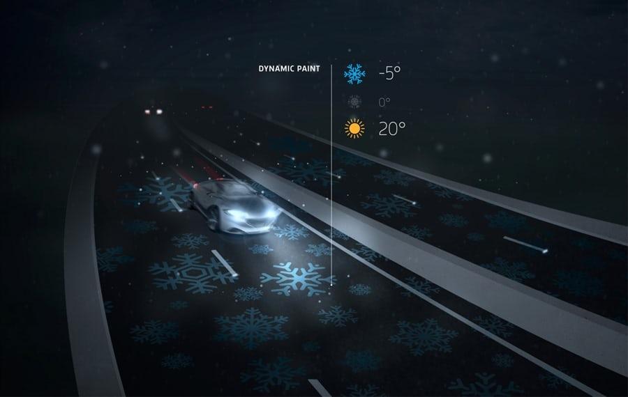 闇夜に光るオランダの高速道路3